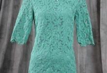 Vintage Turquoise Floral Prada Dress