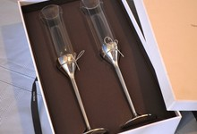 Vera Wang Love Knots Toasting Flutes Wine Wedding Champagne Crystal Glass