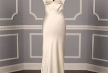 Authentic Monique Lhuillier Iman Ivory Silk Satin Sexy Couture Bridal Gown
