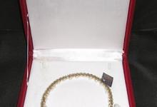 Reem Acra Pearl Crystal Tiara Headband Wreath Veil Wedding Headpiece