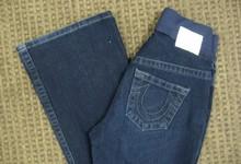 True Religion Maternity Jeans Farrah Stretch Wide Leg Dark Rinse