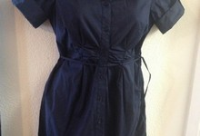 A Pea In The Pod Blue Shirt Dress Career Casual Maternity