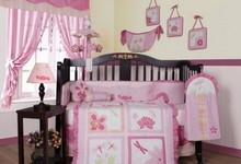 Girl Dragonfly 13p Baby Crib Bedding Set