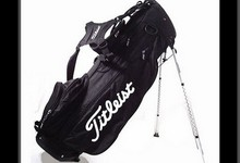 Titleist Black Sx-6 Carry W/ Stand Golf Bag Ez-fit Back Pack Jacquard Weave Vg