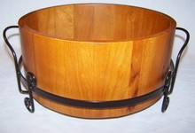 Large Wooden Bowl With Wire Rack Kamenstein Bowl 11