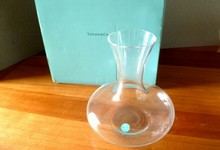 "Tiffany & Co Crystal Sleek 7"" Vase Or Decanter"