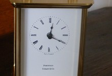 Tiffany & Co Portfolio Brass Clock Quartz
