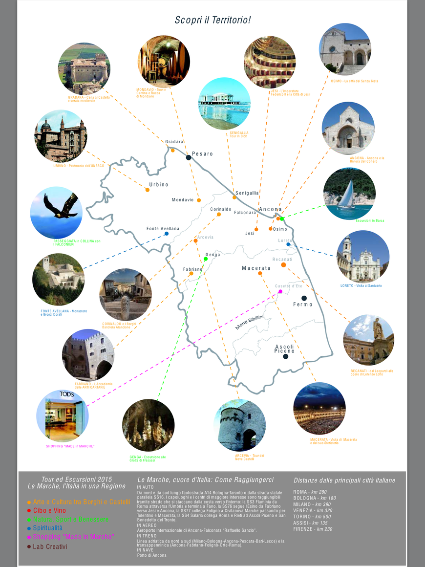 Itinerari,Escursioni,Tour nelle Marche