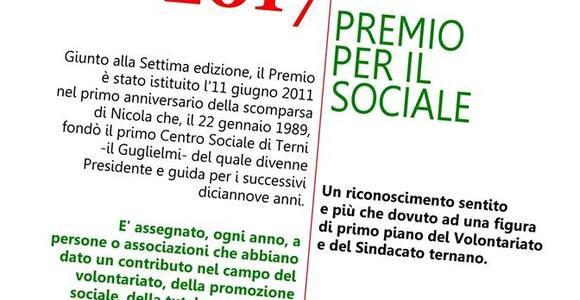Premio Nicola Marrone per il Sociale: prossimamente la settima edizione
