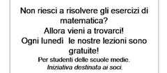 Lezioni di matematica gratuite