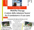 3 giorni di stage sui valori della relazione, comunicazione e premio nei PAA/Pet Therapy