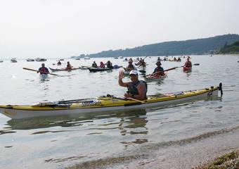 Giro del lago in kayak