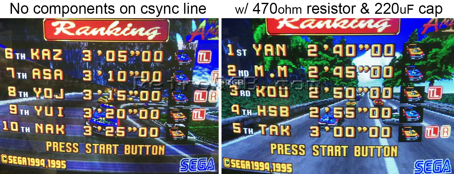Sega Saturn Retrorgb 2 Way Scart Switch Box Heres An Example Of What Happens On Some Model Saturns When You Dont Have The Correct Components Csync Line Onf Cable Notice All Weird
