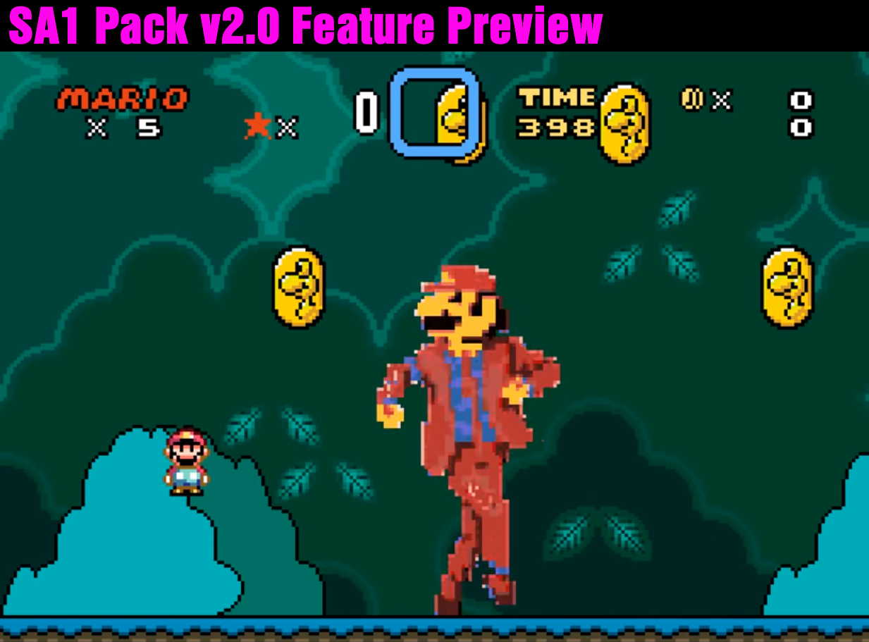"SA-1 Pack v2.0 Feature Preview: ""Giant Super ExAnimations"" & Mario Jackson!"
