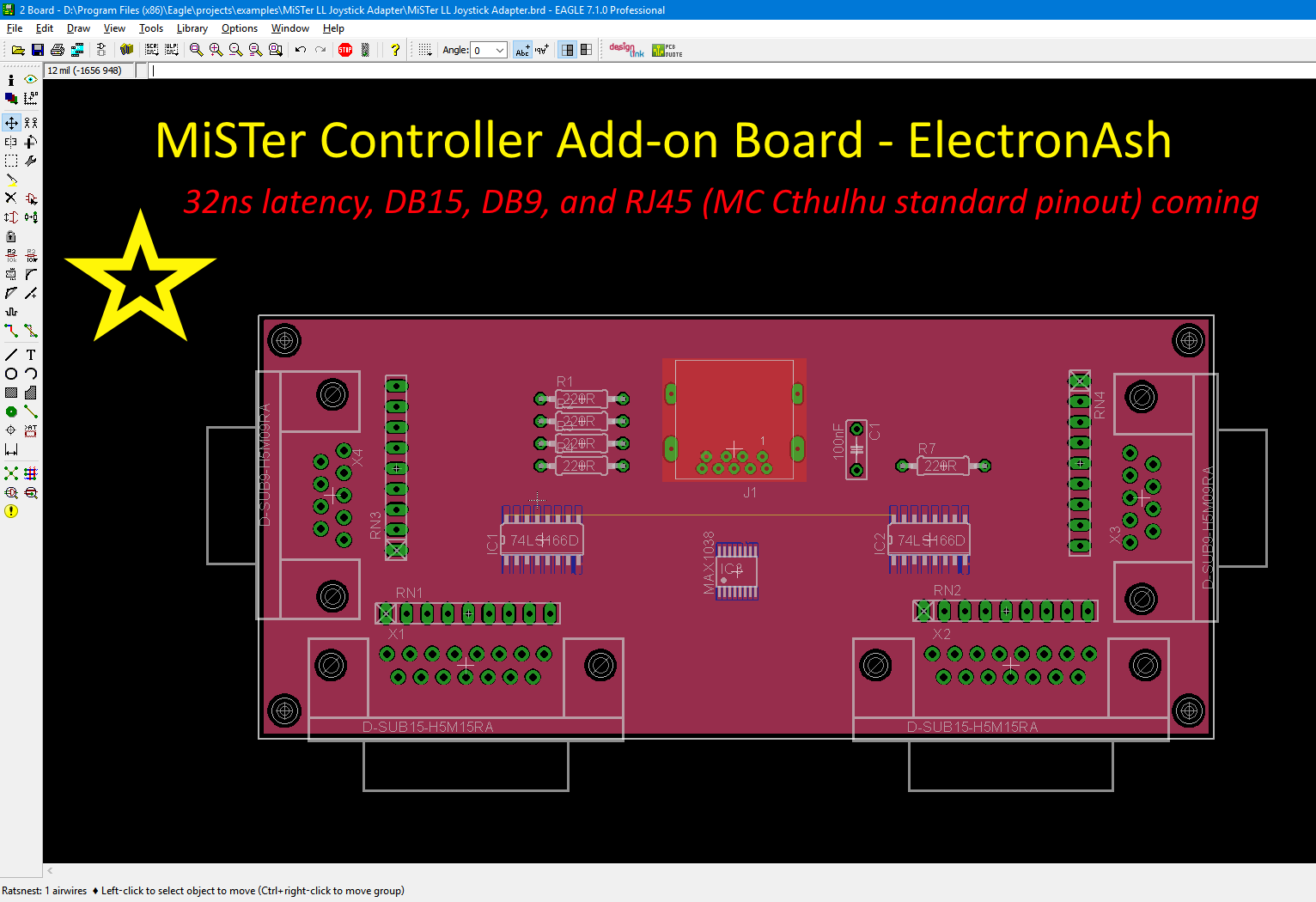 MiSTer Ultra-Low-Latency Controller Add-On Board