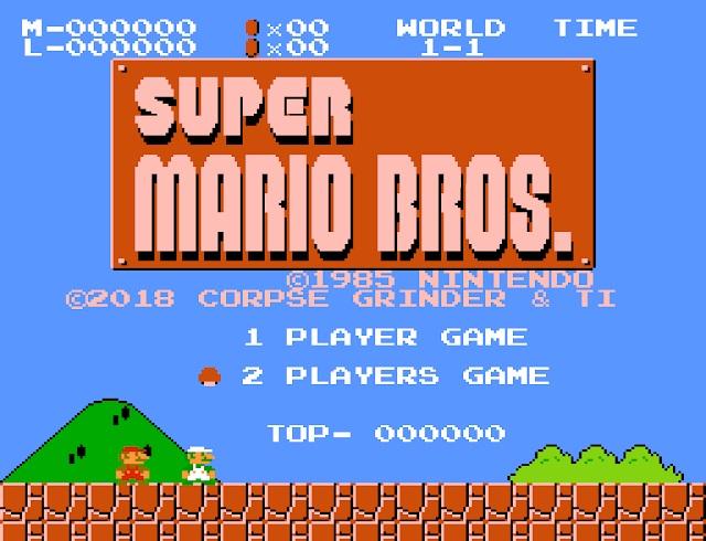 Simultaneous 2-Player NES Super Mario Bros