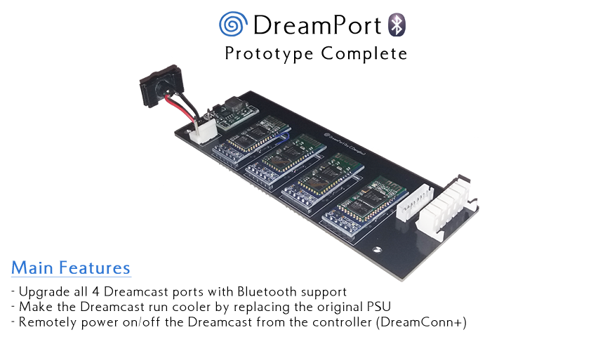 DreamPort: Sega Dreamcast Bluetooth & Power Supply Upgrade