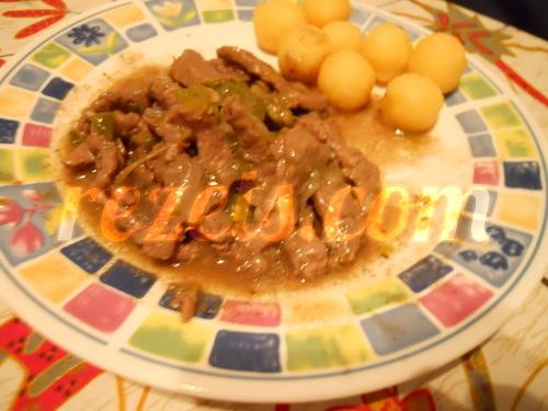 receta de ternera con pimientos verdes por Elena