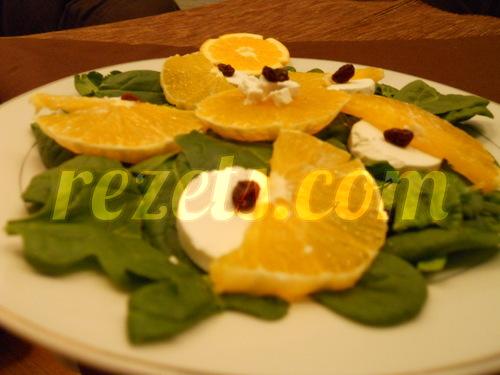 receta de ensalada de naranja y espinacas por Elena