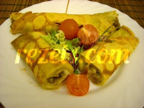 receta de crepes salados rellenos de champiñones y jamón por inma