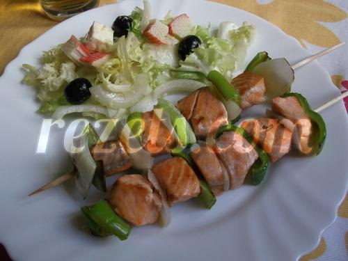 receta de brochetas de salmón por inma
