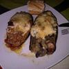 receta de berenjenas rellenas de carne // setas con gambas por toscallita