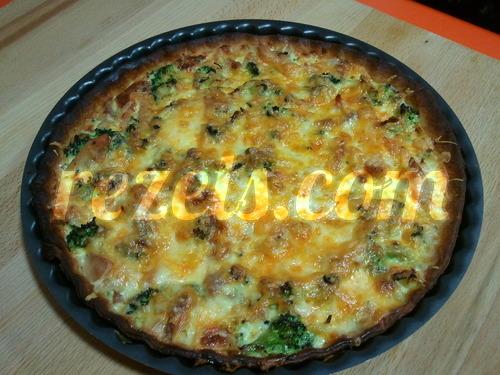 receta de tarta de pollo y brócoli por toscallita