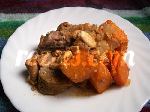 receta de lomo con calabaza y almendras por inma
