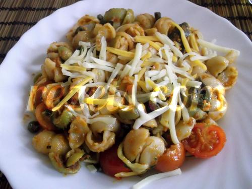 receta de pasta con tomates secos por arctarus