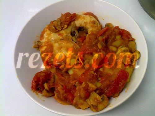 receta de merluza con salsa de tomate y champiñones por asialillo