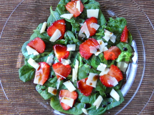 receta de ensalada de espinacas y fresas por Elena