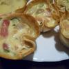 receta de miniquiches de setas, calabacín y bacon por Elena