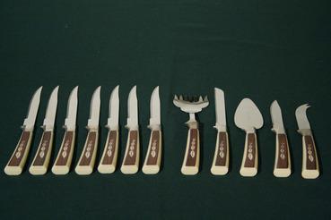 Sheffield Wood/Leaf Print Cutlery, 12 pc.