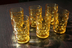 Amber Juice Glasses with Dot Texture, set of 6