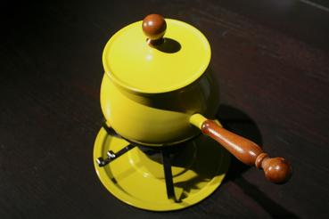 Vintage Chartreuse Fondu Set