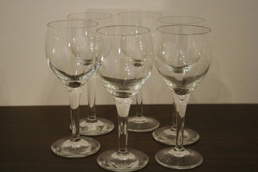 Crystal Sherry Glasses, set of 6