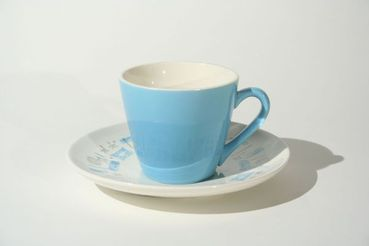 Blue Heaven Coffee Cups and Saucers, set of 4