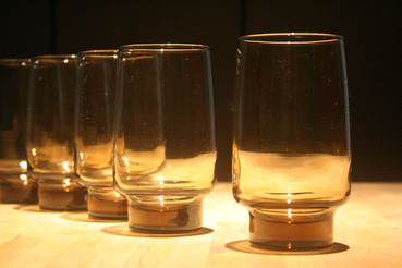 Libbey Accent Tawny Brown Iced Tea Glasses, Set of 4