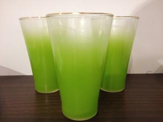 Green Blendo Highball Glasses, set of 3
