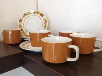 Mikasa Mediterrania coffeec cups and saucers in Judy pattern