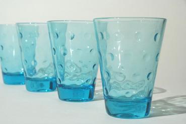 Hazel Atlas Blue Capri Juice Glass