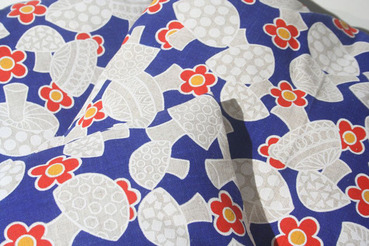"19"" Blue Mushroom Pattern Throw Pillow"