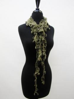 Lacey Days of Layering Scarf in Moss