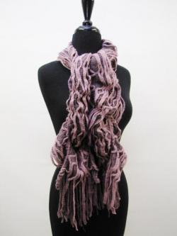 Ruffles Galore Scarf in Purple