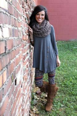 Chix+ Side Winder Tunic in Grey