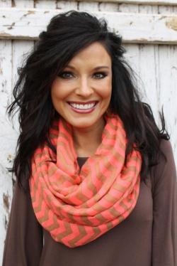 Sahara Sunrise Scarf in Coral