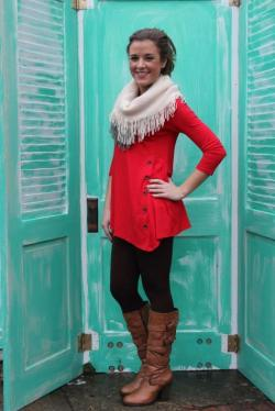 Chix + Sidewinder Tunic in Red