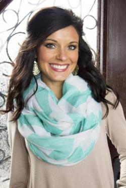 Chevy On Scarf in Dark Mint