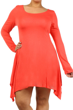 Chix + Sharkbite Tunic in Coral