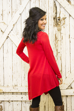 Chix + To the Point Tunic (Red)